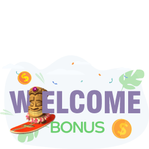 What is the welcome bonus in online casinos